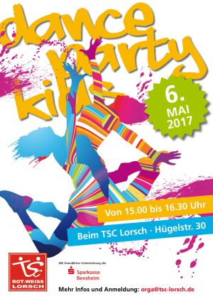 Plakat zur Dance-Party for Kids 6.5.2017