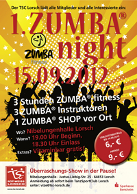 Plakat zur 1. Zumba night